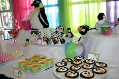 Penguin Party Favors | ... of 19: Penguins / Birthday Penguin Pool Party | Catch My Party