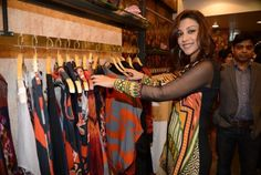 Evelyn Sharma, Amrita Puri dropped by to check out Ritu Kumar's Store