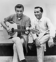 Photo: Waylon Jennings and fellow entertiner Faron Young (right) in an undated photo