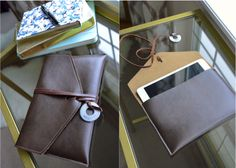 DIY Easy Leather iPad Mini case with picture tutorial!