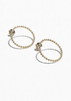 Other Stories Circle Studs in Gold