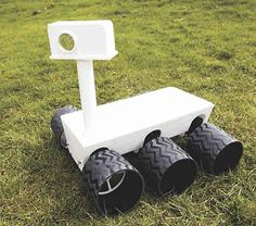 Find out how to build a six wheel all terrain robot inspired by the Curiosity Martian rover, remotely controlled from any mobile device or computer browser. The Martian, Robotics, Curiosity, Arduino, Mars, Homeschool, Electric, Internet