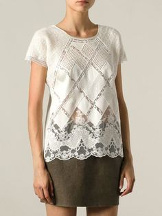 Ermanno Scervino Diamond Check Top - Eraldo - Farfetch.com