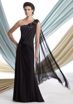 f7d06f5726a Montage by Mon Cheri - 113929 Long Dress In Black Glamorous Dresses