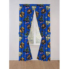 Monster Jam Boys Bedroom Curtains, Set Of 2