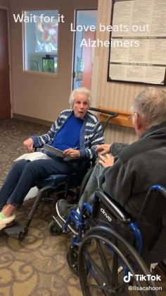 - Woman with Alzheimer's acknowledges her partner – natural , , , , Cute Love Stories, Happy Stories, Sweet Stories, Love Story, Try Not To Cry, Make You Cry, Stupid Funny, Funny Cute, Alzheimer