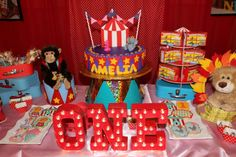 Circus / Carnival Birthday Party Ideas | Photo 1 of 38 | Catch My Party