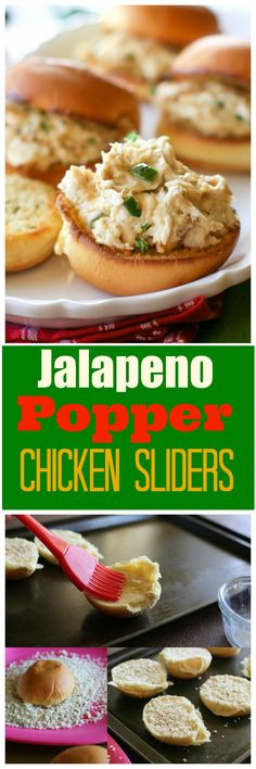 Jalapeno Popper Chicken Sliders - a quick and easy game day recipe! the-girl-who-ate-everything.com