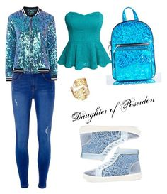 Daughter of Poseidon by camphalfblood12 on Polyvore featuring polyvore fashion style Topshop Dorothy Perkins Rene Current Mood clothing