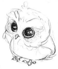 Corujas para pintar You are in the right place about animal drawing tutorial Here we offer you the m Cute Owl Drawing, Cute Animal Drawings, Animal Sketches, Cute Drawings, Drawing Sketches, Owl Drawings, Drawing Birds, Pencil Drawings, Sketching