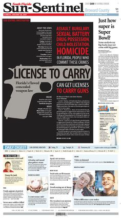 #Newspaper #Design #49   South Florida Sun-Sentinel