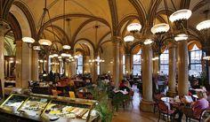 Een Kaffeehaus in Wenen.