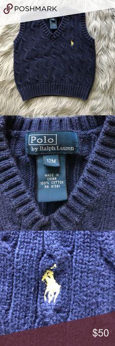 Polo by Ralph Lauren 12m boys vest Navy vest from Polo by Ralph Lauren. Size is 12m Polo by Ralph Lauren Jackets & Coats Vests