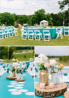 blue wedding decor #receptiondecor @weddingchicks