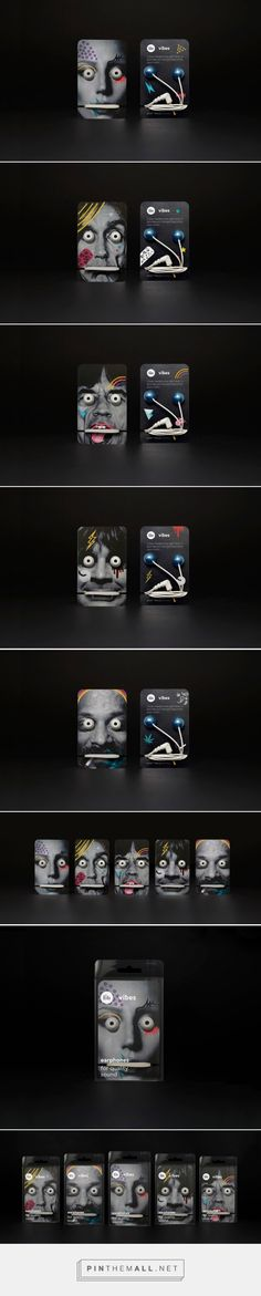 Ozzy Gaga Snoop dogg? Can you identify them all? Earphones packaging concept designed by Adamantia Chatzivasileiou (Greece) - http://www.packagingoftheworld.com/2016/02/vibes-earphones-concept.html