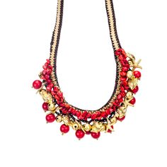 Handmade Red Coral and Brass Beads Necklace (Thailand) | Overstock.com Shopping - The Best Deals on Jewelry Sets