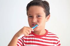 Brushing two times a day for two minutes is vital to your child's dental health. Here's how to make brushing a healthy habit and fun for everyone. Lingual Braces, Dental Videos, Dentistry For Kids, Orthodontics, Dental Health, Speech And Language, Healthy Habits, Teaching Kids, Brushing