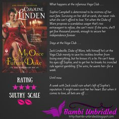 ARC Review: My Once and Future Duke by Caroline Linden with Avon Books. This was a good start to the new series, Wagers of Sin.