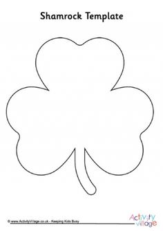 shamrock cut out template - 1000 images about pre k st patricks day theme crafts
