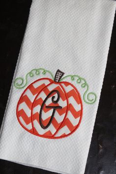 Hey, I found this really awesome Etsy listing at http://www.etsy.com/listing/113538687/personalized-pumpkin-kitchen-towel