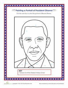 Worksheets: Barack Obama Coloring Page