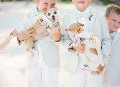 ring bearers in seafoam green bow ties...adorable |  Photography: KT Merry Photography - ktmerry.com Decor: Parrish Designs - parrishdesignslondon.com Decor: Caidal Events - berberevents.com  Read More: http://www.stylemepretty.com/2013/05/02/islamorada-wedding-from-kt-merry-photography/