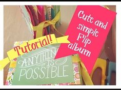 Paper Bag Flip Album | Tutorial with Dollar Tree Bags! **giveaway closed** - YouTube