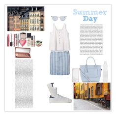 """Summer Day"" by silly-stegosaurus ❤ liked on Polyvore featuring Topshop, MANGO, adidas, Seletti, Hourglass Cosmetics, NARS Cosmetics, Urban Decay, Too Faced Cosmetics, House of Harlow 1960 and Accessorize"