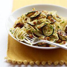 Spaghetti with Roasted Zucchini
