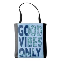 Good Vibes Only All-Over-Print Tote Bag