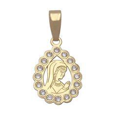 #Colgante lágrima Virgen Niña en Oro 18 Kl. : Joyeria online   joyeria plata   joyeria de plata Medalla de Comunión con la Virgen Niña de Oro de 18 Kl. y Circonitas En Minoplata vas a encontrar el regalo de Comunión perfecto...  Aquí te ofrecemos este original diseño de Medalla, está realizada en Oro de 18 Kl, lleva grabada la imagen de la Virgen Niña, tiene forma de lágrima que lleva cerco de Circonitas. Su terminación es en brillo.    Medidas: 11 x 22 Mm. total (incluyendo reasa).
