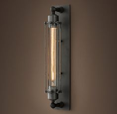 Grand Edison Caged Sconce - restoration hardware - bath idea