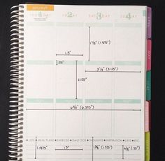 For DIY Planner Decorations: Dimensions for Erin Condren Life Planner