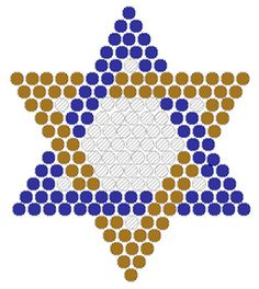 Star of David Fuse Bead Pattern - Pinned by @PediaStaff – Please visit http://ht.ly/63sNt for all (hundreds of) our pediatric therapy pins