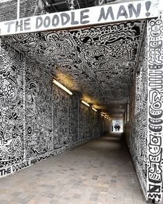 Shoreditch, London. The full tunnel by @the_doodle_man. u love ART ? check the link http://stores.ebay.com/urban-art-designs https://www.etsy.com/shop/urbanNYCdesigns?ref=hdr_shop_menu