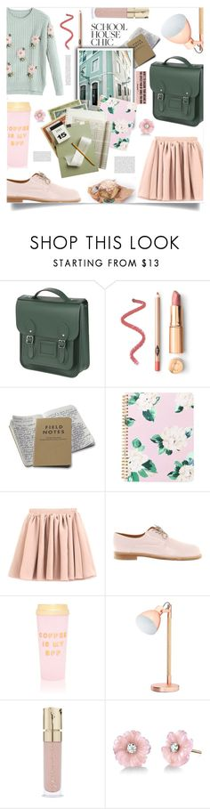 """""""school chic"""" by ztugceuslu ❤ liked on Polyvore featuring The Cambridge Satchel Company, ban.do, Jil Sander, Smith & Cult, Irene Neuwirth and finals"""