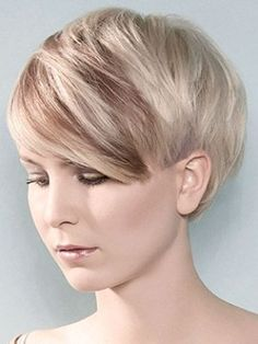 Chic Short Haircut with Side Swept Bangs