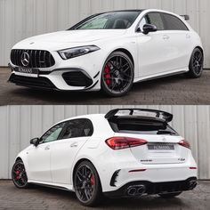 Does the new #A45S 4Matic+ Plus look better from the front or the rear? 🤔 Used Mercedes Benz, New Mercedes, A Class Amg, Aluminum Blinds, Dual Clutch Transmission, Arms Race, Performance Engines, Bugatti Chiron, Alloy Wheel