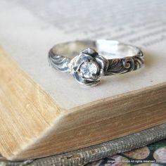 Flower Gemstone Sterling Silver Sweetest Ring