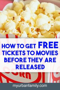 Did you know you can see movies before they're released in theaters, and many times you can do so for free? And how easy it is! Save Your Money, Ways To Save Money, Money Tips, Money Saving Tips, How To Make Money, Saving Ideas, Create A Budget, Frugal Living, Frugal Family