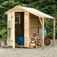 Larchlap 6X4 Apex Overlap Wooden Shed - with Assembly Service: Image 1