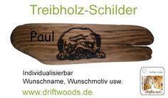 www.driftwoods.de Neu Treibholz-Schilder. Holzbrandmalerei, nach Ihren Wünschen und ganz individuell! Wir brennen für Sie Namenschilder, Haustürschilder, Brettchen mit Namen und Wunschmotiv je nach Wunsch und Gefallen. Ein tolles und einzigartiges Geschenk!