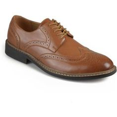 Territory Mens Lace-up Faux Leather Oxford Derby Dress Shoes, Men's, Size: 8, Brown