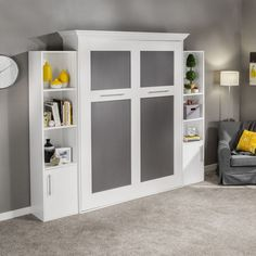 "Explore our site for additional relevant information on ""murphy bed ideas space saving"". It is actually an excellent location to find out more. Cama Murphy, Murphy Bed Desk, Murphy Bed Plans, Murphy Bed Hardware, Tall Cabinet Storage, Locker Storage, Storage Shelves, Modern Murphy Beds, Hidden Bed"