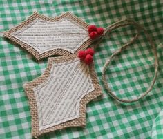 Welcome to the fourth and final week of Christmas Every Monday.  Today, we are working with burlap.  First up are burlap h...