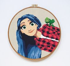 Hey, I found this really awesome Etsy listing at https://www.etsy.com/listing/397955899/rapunzel-cross-stitch-pattern-tangled