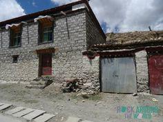 Typische Wohnhäuser in Tibet