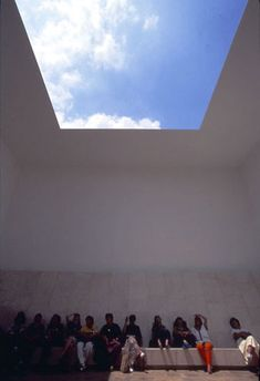 Space That Sees (1992) by James Turrell -- A Turrell Skyspace is a specifically proportioned chamber with an aperture in the ceiling open to the sky. Skyspaces can be autonomous structures or integrated into existing architecture. The aperture can be round, ovular or square.