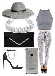 Silver Cuteness by anaise-pagan on Polyvore featuring polyvore, fashion, style, Yves Saint Laurent, Gemma Redux and H&M