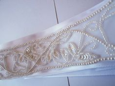 Possible Pearl Beaded sash for my wedding dress